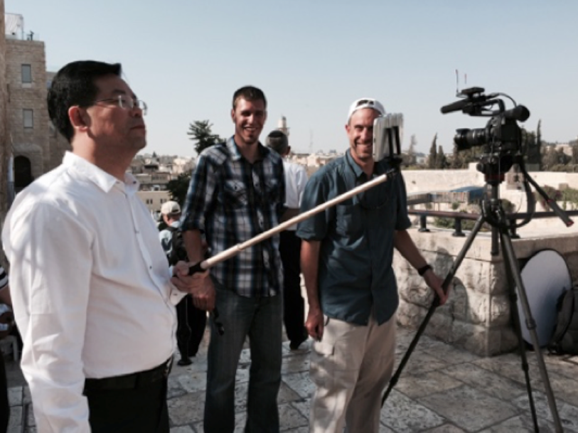 Selfie-stick Man Onset in Israel Visual Legacy Productions / tellmystory.us