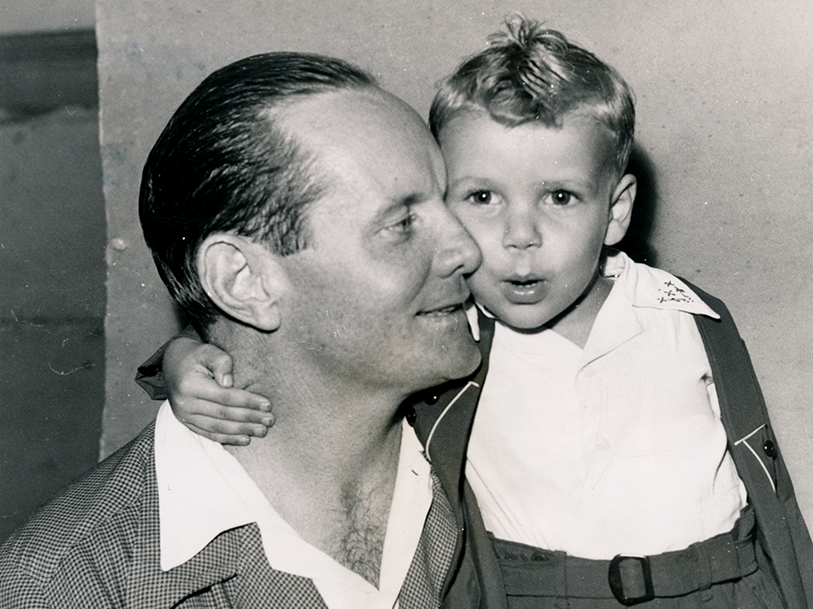 Vintage Photo of Boy with Dad Chuck and Red Barrett Visual Legacy Productions / tellmystory.us