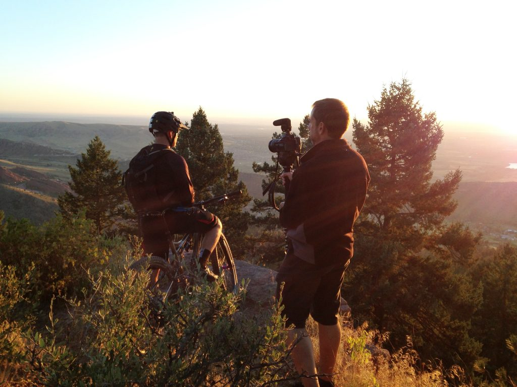 Mountain Biker's Sunrise View Action Story Visual Legacy Productions / tellmystory.us